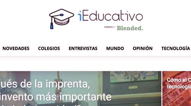 Blended lanzó un portal de noticias educativas