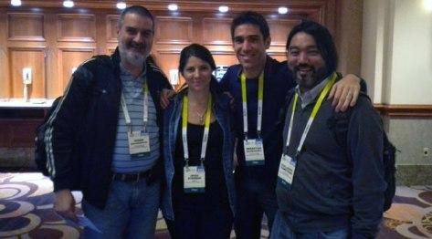 Con Irina Sternik, Sebastián Davidovsky y Guillermo Tomoyose. Las Vegas, EE.UU., enero.