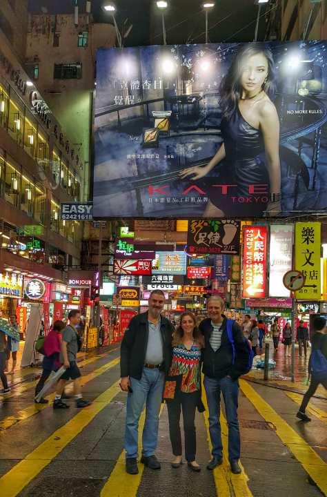 Con Debora Slotnisky y Damián Kantor. Hong Kong, China, abril.