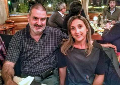 Con Guillermina Fossati. San Carlos de Bariloche, Río Negro, mayo.
