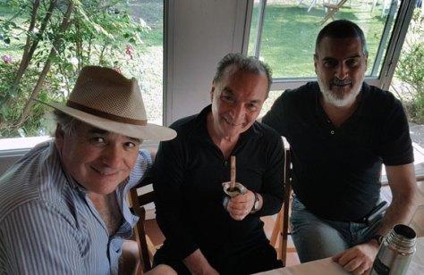 Con Carlos Pallotti y Epifanio Blanco. Quinta La Azulada, Los Cardales, Buenos Aires, septiembre.