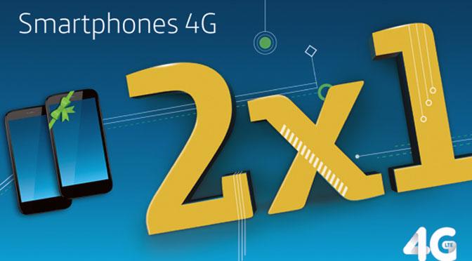 Movistar lanza promoción de 2×1 en equipos 4G