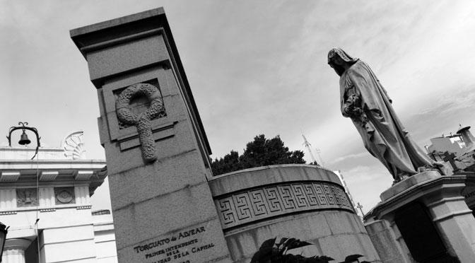 Esculturas en el cementerio de la Recoleta