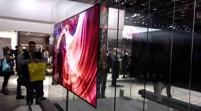El televisor de LG tan delgado como una hoja de papel