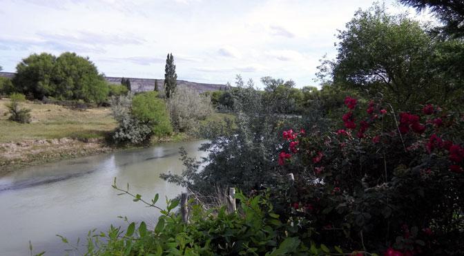 El río Chubut, germen de vida en una chacra de Dolavon