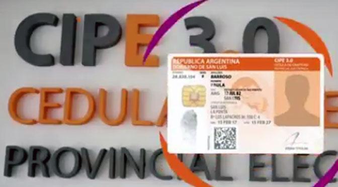 San Luis estrena la 3° versión de su cédula de identidad electrónica