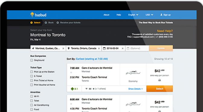 Busbud ya vende por Internet pasajes de micros argentinos