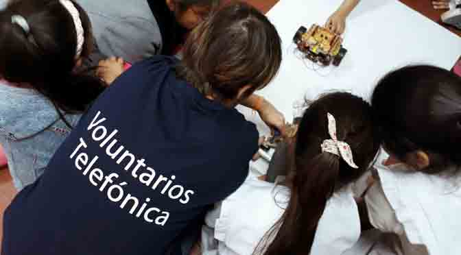 Más de 2.300 voluntarios de Telefónica celebran el día del voluntario con 100 actividades