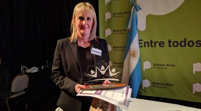 María Ramona Maciel, ganadora del premio a la mujer empresaria bonaerense 2017