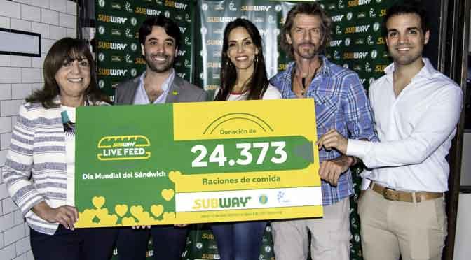 Subway recolectó donaciones para 13,3 millones raciones de comida
