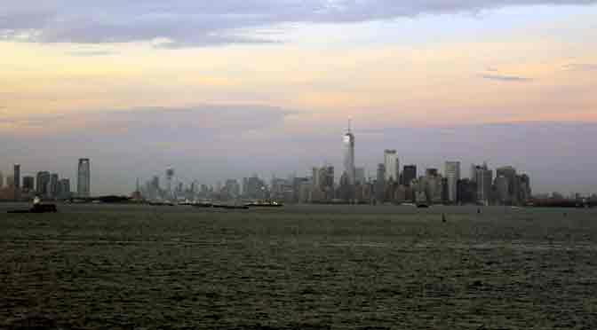 El sur de Manhattan desde Staten Island