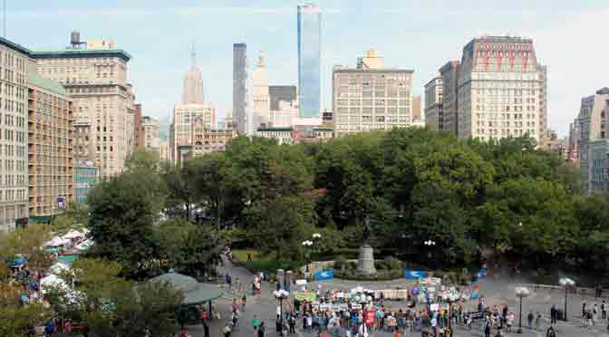 Union Square Park, oasis verde de arte, comida y política en New York