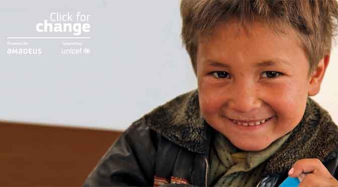 «Click for change» a beneficio de Unicef llega a la Argentina de la mano de Almundo