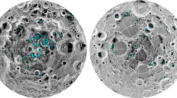 La NASA confirma existencia de hielo en la Luna