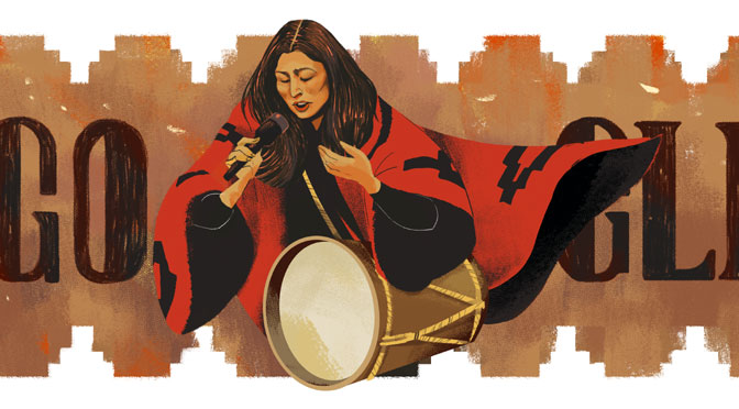 Google homenajea a Mercedes Sosa con un «doodle»
