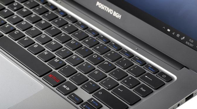 Positivo BGH presenta una notebook con tecla para acceder a Netflix