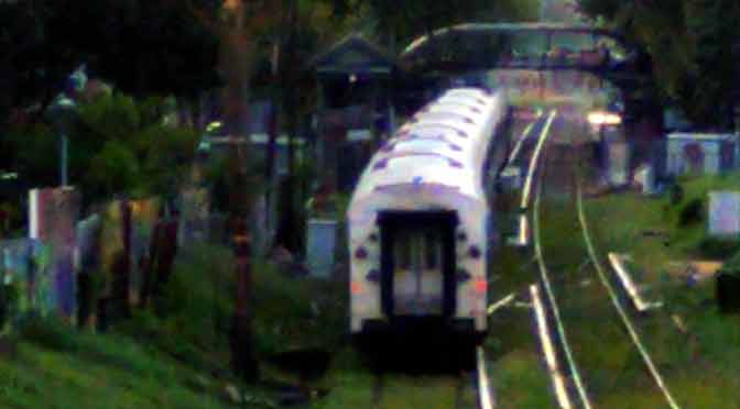 Regreso a mi niñez con un tren de larga distancia en Colegiales