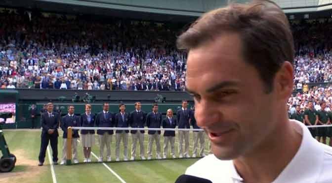 La lección de Roger Federer: «Espero que esto sirva de inspiración»