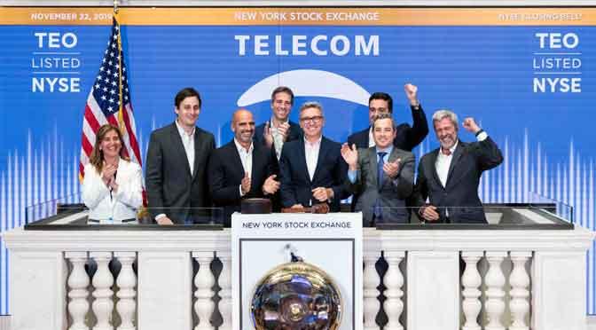Telecom Argentina celebra 25 años de cotización en la Bolsa de New York