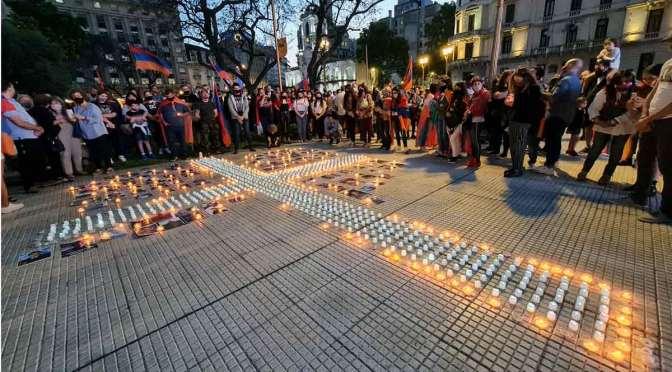 Acto en Buenos Aires por la paz en Artsaj y Armenia y caídos ante Azerbaiyán