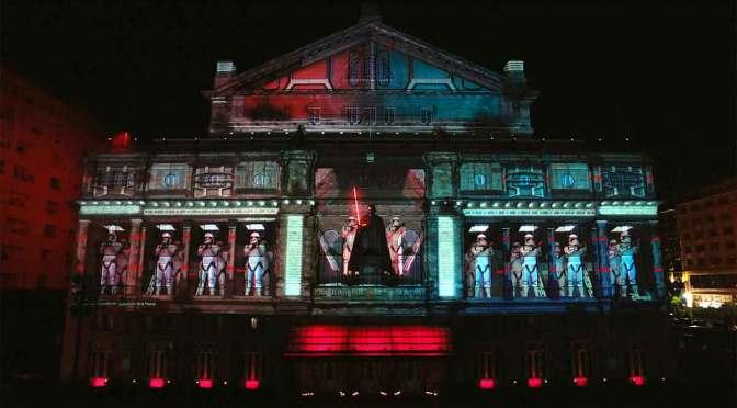 Un «mapping» en el teatro Colón por el arribo de Disney+ a la Argentina