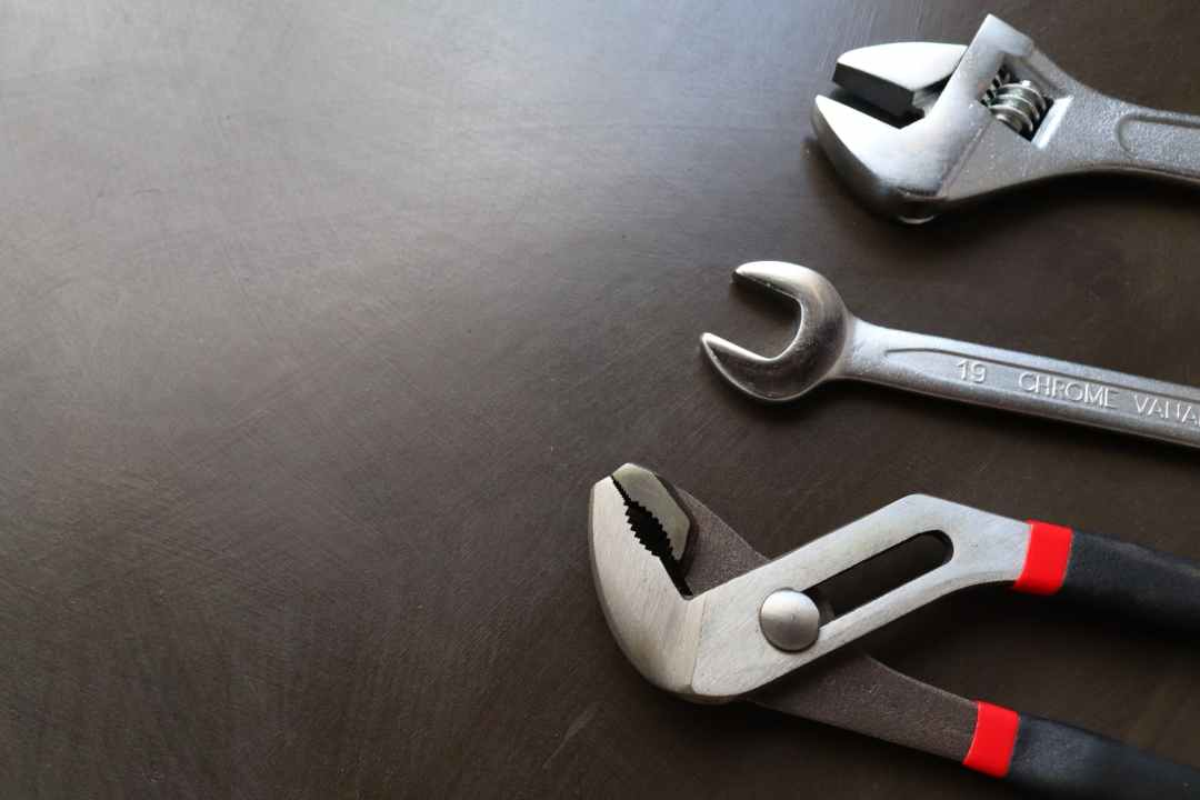 different wrenches on workbench