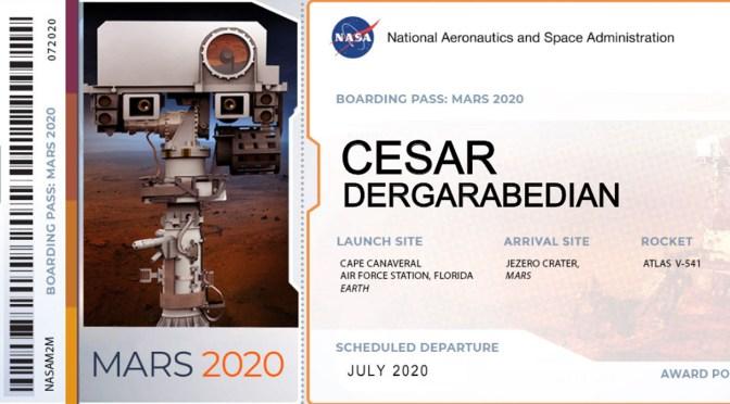 Y una vez mi nombre llegó a Marte