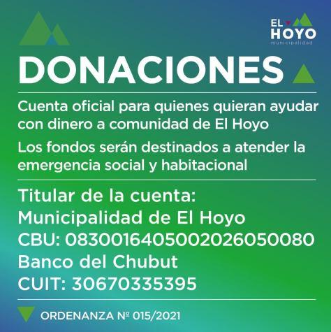 El Hoyo donaciones