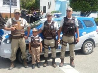 """""""No final da festa ele falou que queria fazer o próximo ano dele homenageando a Polícia militar da Bahia"""", disse o pai do menino."""