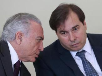 Temer e Rodrigo Maia