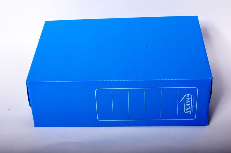 BahiaOffice  Caja archivo plastica PLANA oficio 12 azul