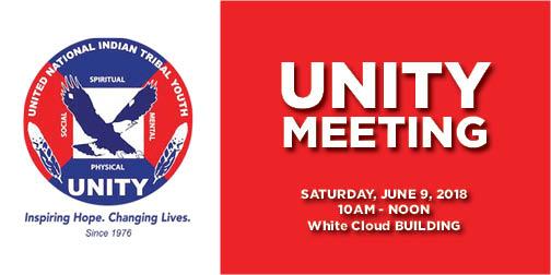 Unity Meeting Notice icon - JUNE 9 2018