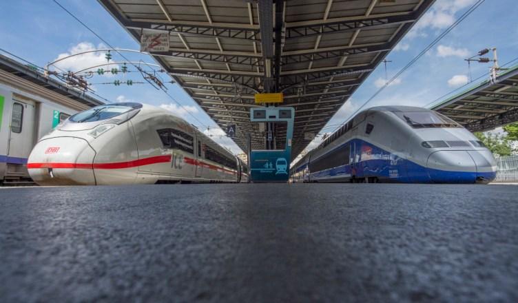 Paris: ICE 3 Baureihe 407 der DB und SNCF TGV im deutsch-französischen Hochgeschwindigkeitsverkehr unterwegs. (Foto: © DB AG / Oliver Lang)