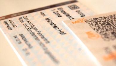 Fahrscheine im Münchner Verkehrs- und Tarifverbund. (Foto: © Bahnblogstelle)
