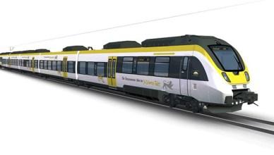 Die neuen Züge von Abellio und Go Ahead werden ab 2019 im einheitlichen Landesdesign unterwegs sein. (Fotografik: © Bombardier)