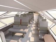 Der Zug der Zukunft: AeroLiner3000. (Grafik: © Andreas Vogler Studio)
