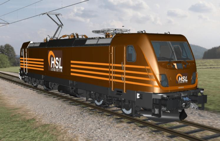 Die 2017 und 2018 auszuliefernden TRAXX AC3 werden die HSL-Firmenfarben tragen. (Grafik: © Bombardier)