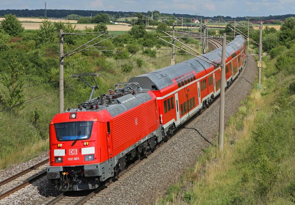 Lok Baureihe 102 Skoda NIM Nürnberg München Express