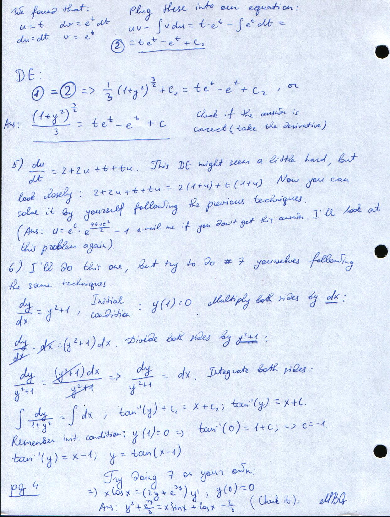 Calculus Homework From 01 15