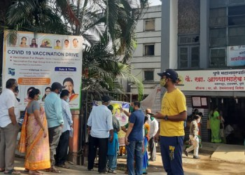 Pune: Crowds flock to Hadapsar for vaccinations despite Sunday being a holiday