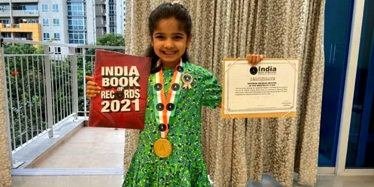 India Book of Records   5 year old girl narrated 30 verses in five minutes name entered in india book of records
