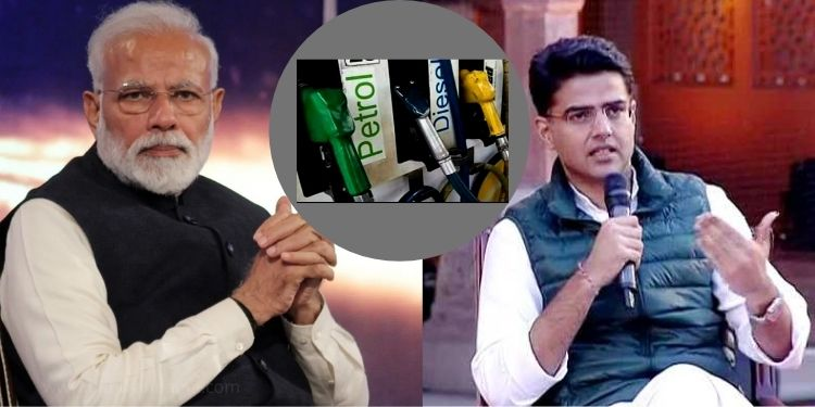 congress sachin pilot targets cental government over rising prices petrol diesel and farm bill