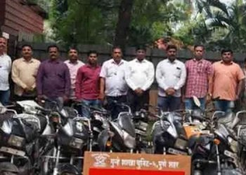 Pune Crime Branch Police | pune crime branch police arrest motorcycle thieves and recover 18 motorcycle