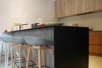 [50年老屋翻新-廚房] 達成我心中的夢想中島,乾淨整齊收納量超大的開放式廚房設計-室內設計裝潢