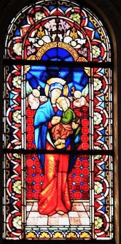 Asunción Santísima Virgen vitral 1