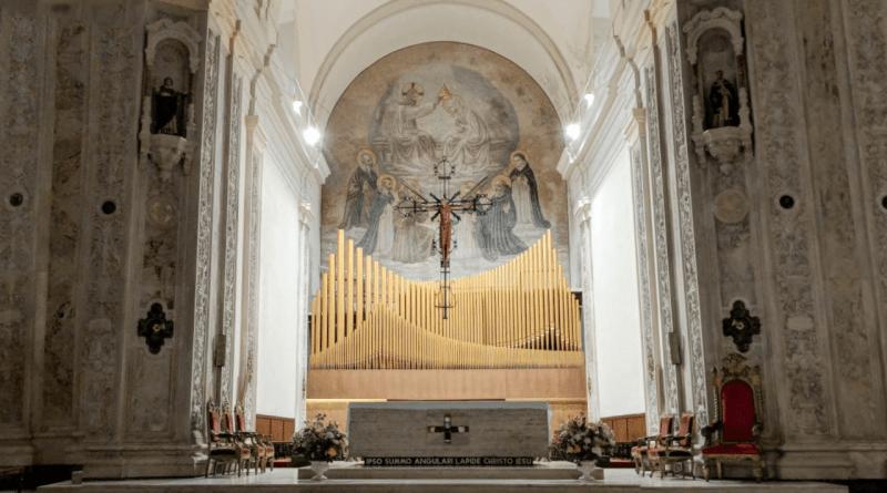 objetos nuestra señora del rosario altar y organo