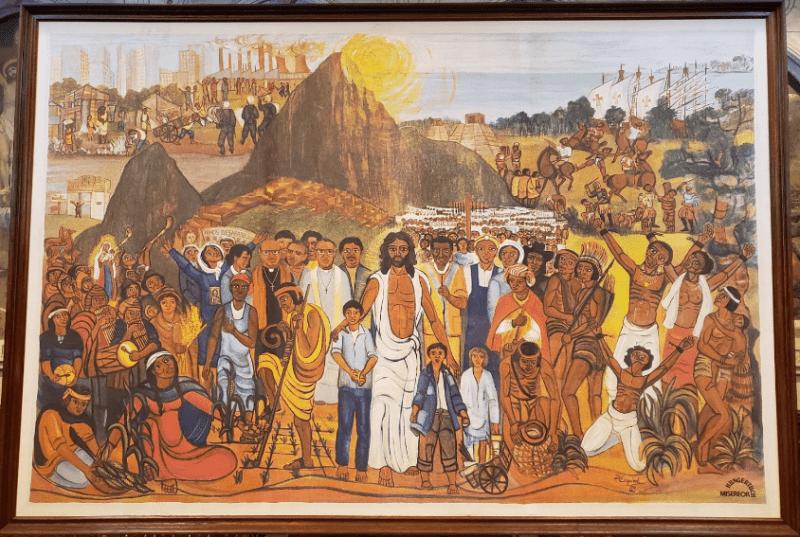 parroquia de la santa cruz reproduccion del mural de perez esquivel
