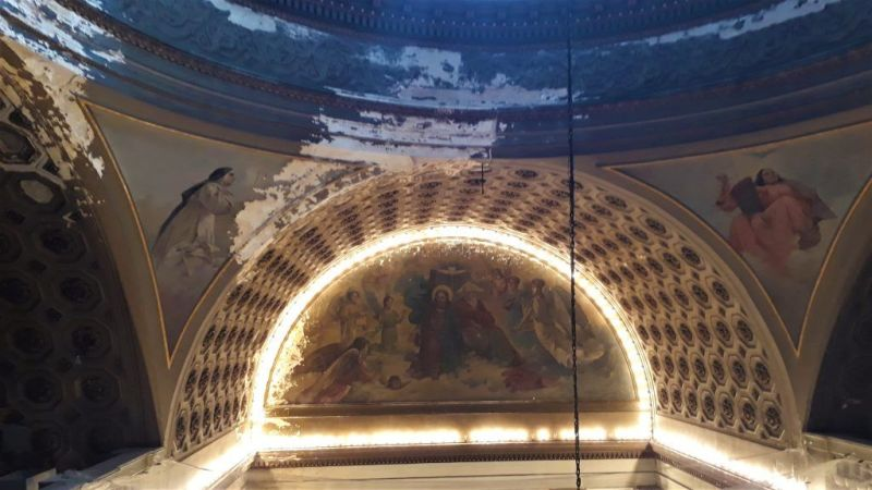 Estado de la cúpula y abside