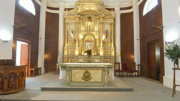 retablo parroquia san luis en mercedes