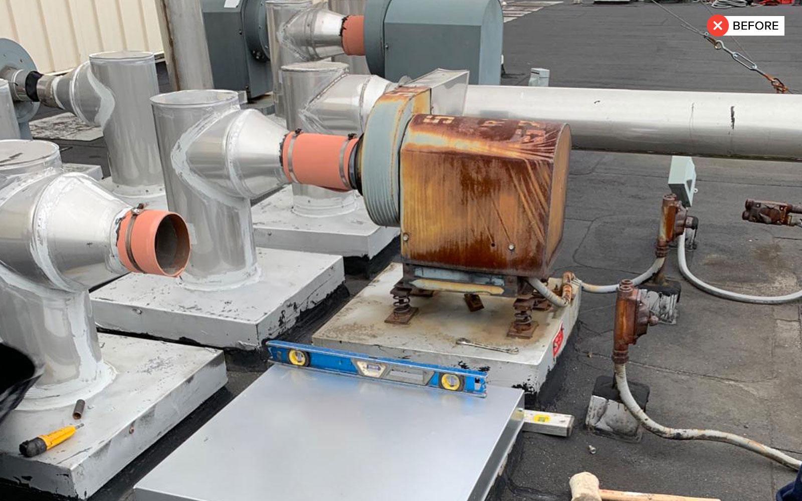 exhaust fans on a roof baikal mechanical